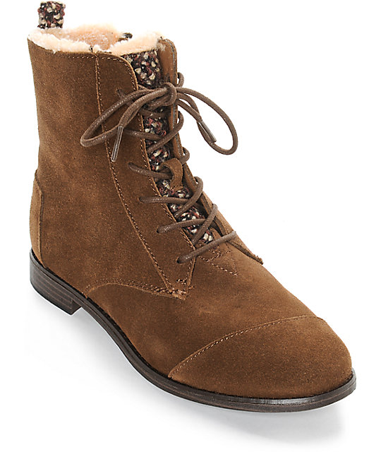 toms alpa brown suede boots at zumiez pdp