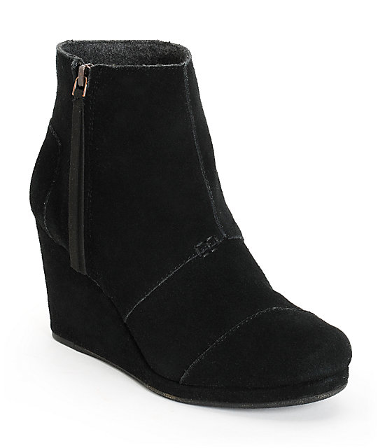 Toms Black Desert Wedge High Shoes - Black Desert Wedge High Shoes