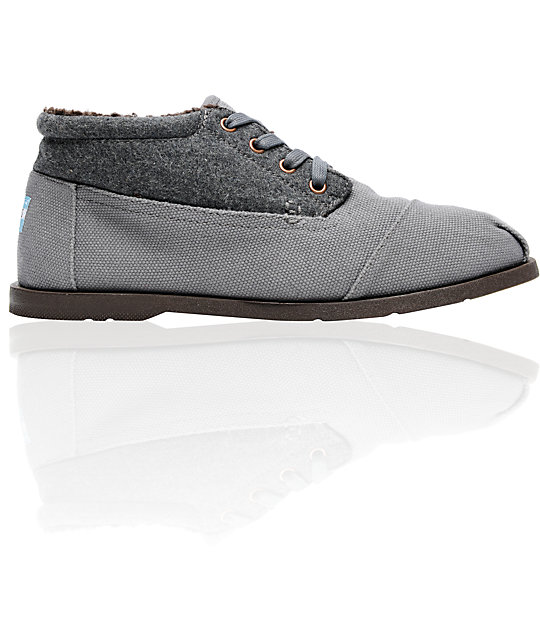 Toms Botas Highlands Mens Grey Wool Ridge Shoes