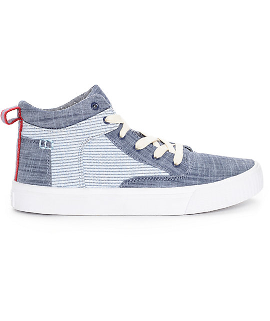 Toms Camila High Chambray Stripe Womens Shoes
