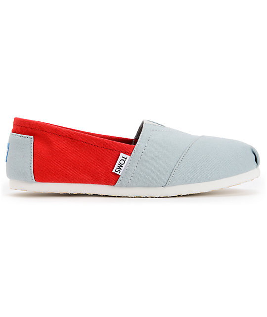 Toms Campus Classics Ohio State Womens Slip On Shoes