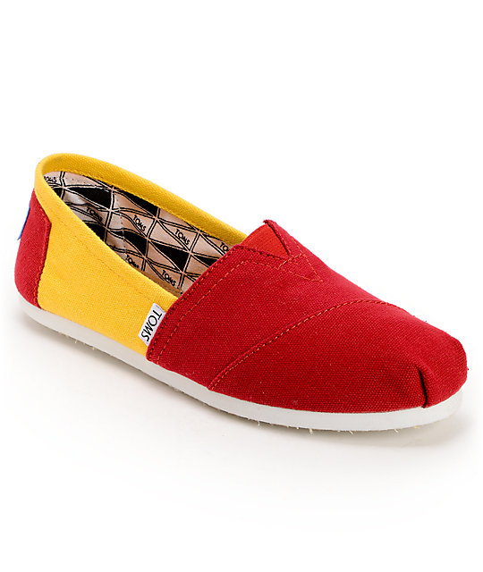 Toms Campus Classics USC Womens Slip On Shoes
