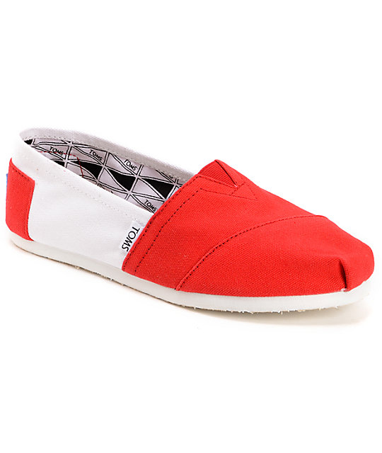 Toms Campus Classics Wisconsin Womens Slip On Shoes