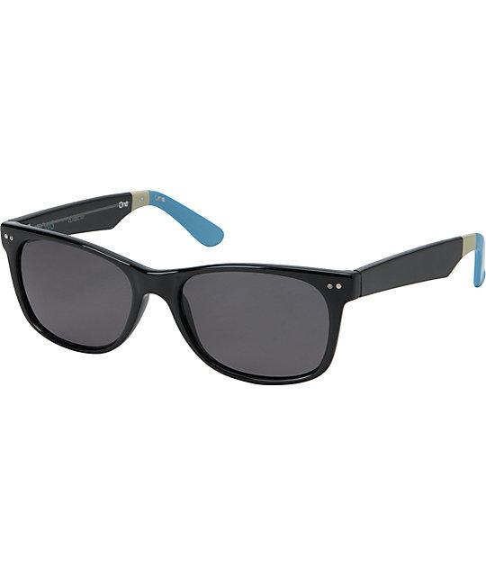 Toms Classic 101 Black & Light Blue Sunglasses