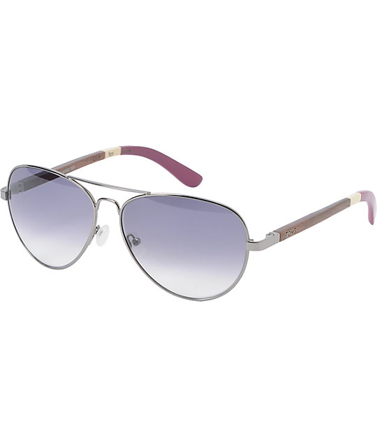 Toms Classic 301 Gunmetal & Berry Sunglasses