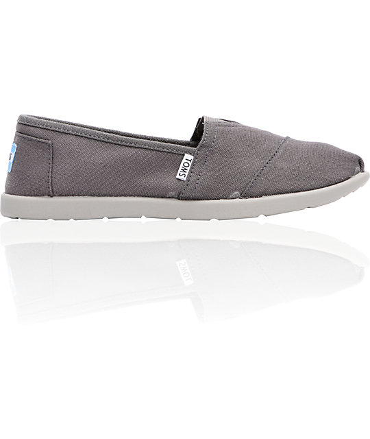Toms Classic Ash Canvas Slip-On Boys Shoes