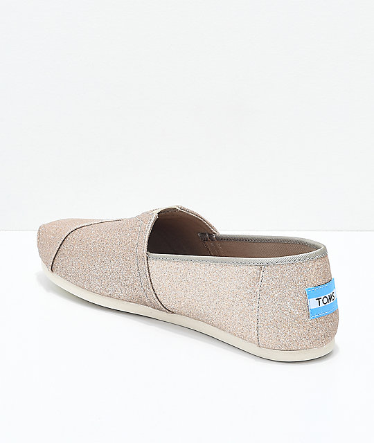 Toms Classic Gold Glimmer Shoes