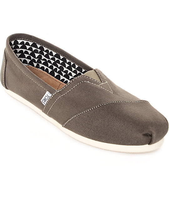 Toms Classic Tarmac Olive Canvas Shoes