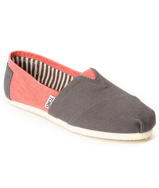 Toms Classics Ash & Georgia Peach Womens Shoes