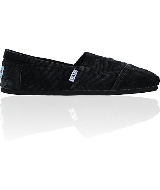 Toms Classics Black Stonewash Corduroy Shoes