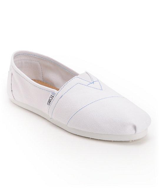 Toms Classics Canvas White Women's Shoes