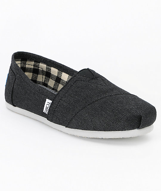 Toms Classics Earthwise Slate Vegan Womens Shoes