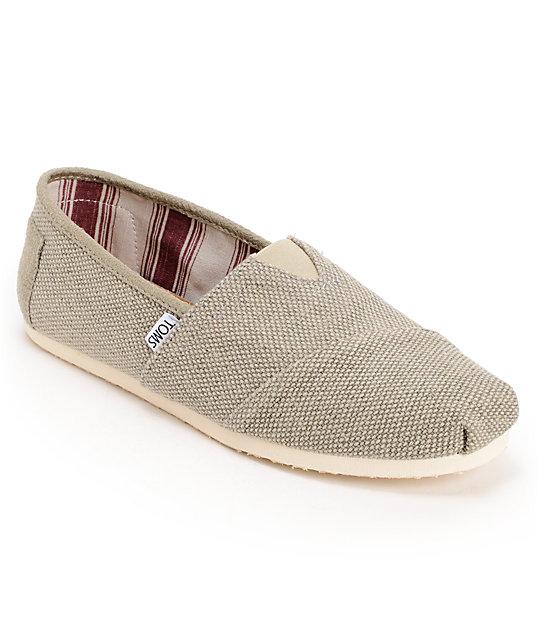 Toms Classics Grey Farrin Mens Shoes