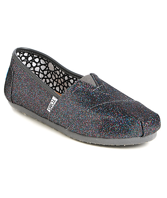 Toms Classics Multi Glitter Womens Shoes