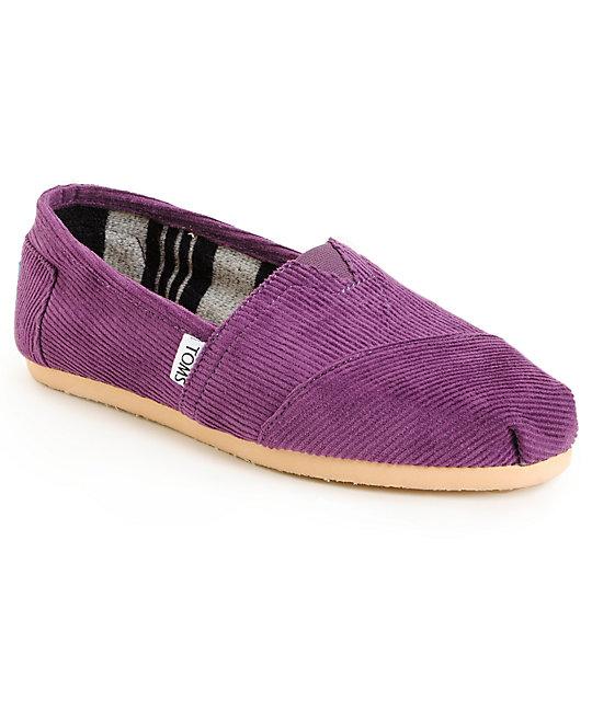 Toms Classics Plum Purple Corduroy Womens Shoes