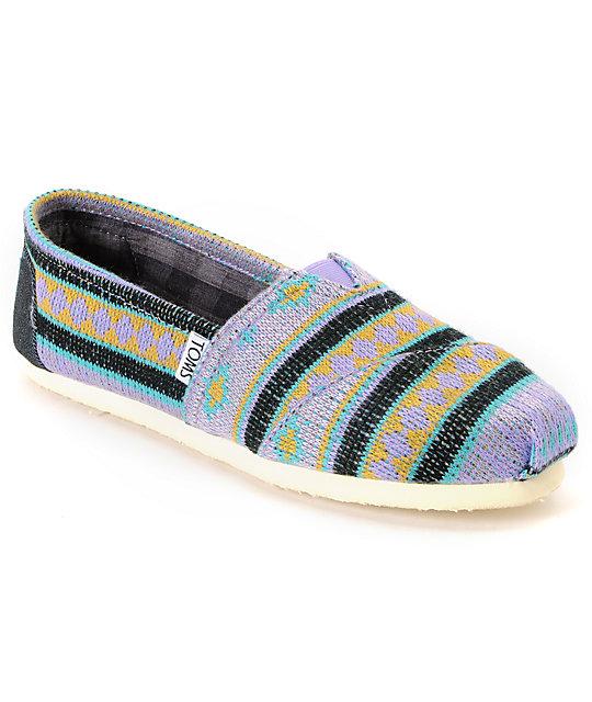 Toms Classics Womens Aqua Tamin Shoes