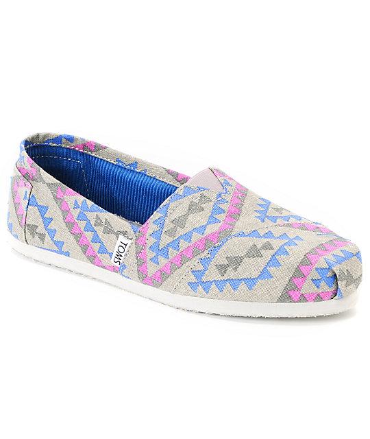 Toms Classics Womens Ash Grey Indo Vegan Shoes