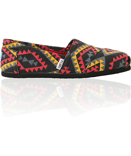 Toms Classics Womens Red Indo Vegan Shoes