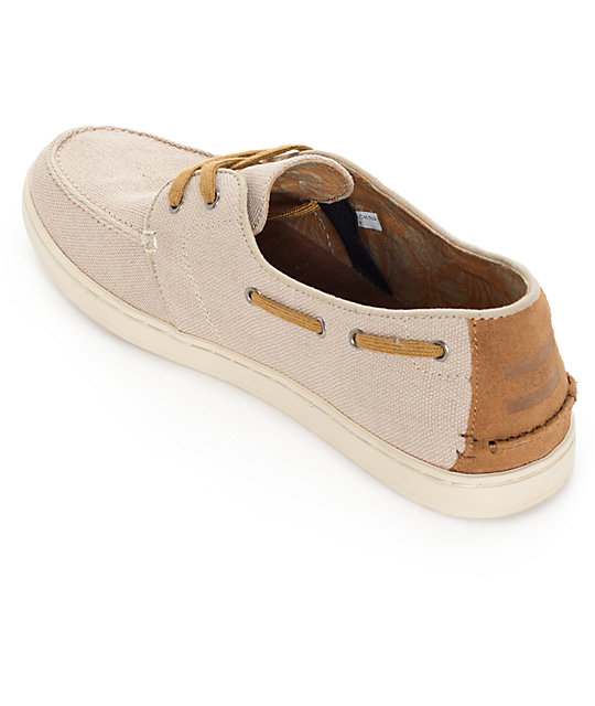 Toms Culver Lace Up Natural Burlap Shoes
