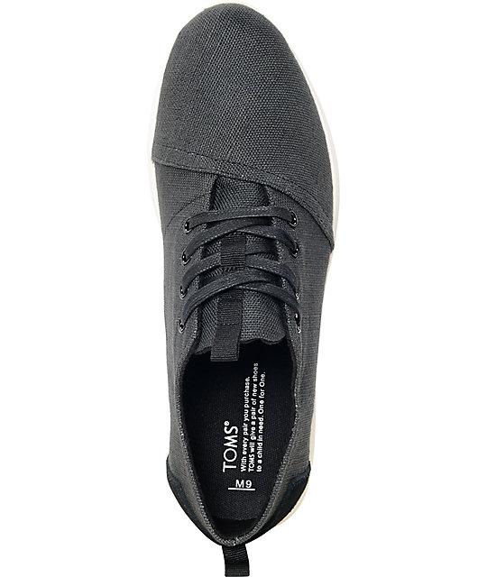 Toms Shoes Burlap Black
