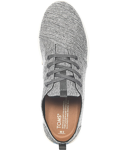 Toms Del Rey Forged Iron Grey Space-Dye Shoes