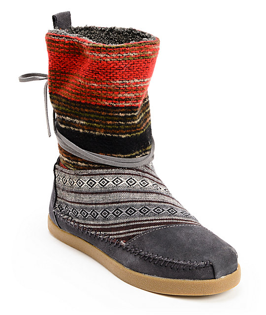 Toms Nepal Mixed Woven Womens Boots