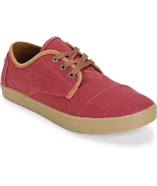 Toms paseo zapatos de tela asargada - Zapateros de tela ...