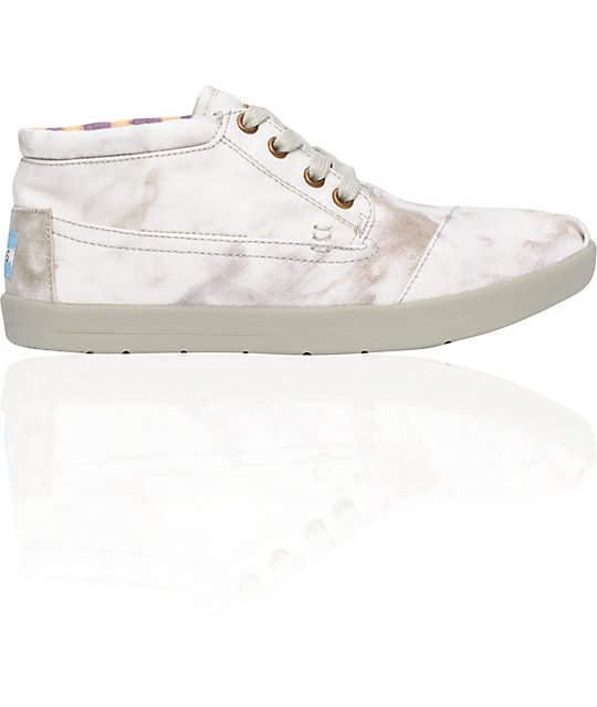 Toms Shoes Botas Grey Tie-Dye Womens Shoes