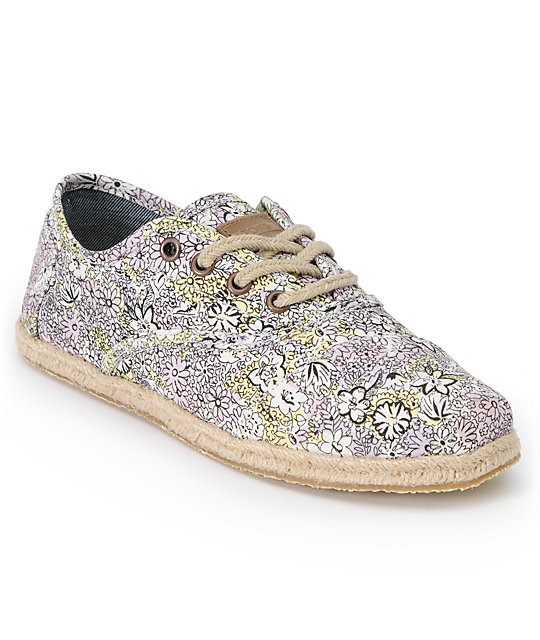 Toms Shoes Cordones Bloom Print Womens Shoes