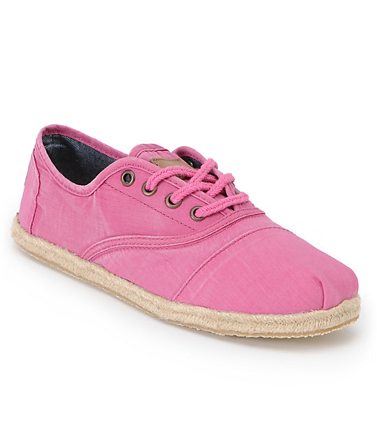 Toms Shoes Cordones Pink Ceara Womens Shoes
