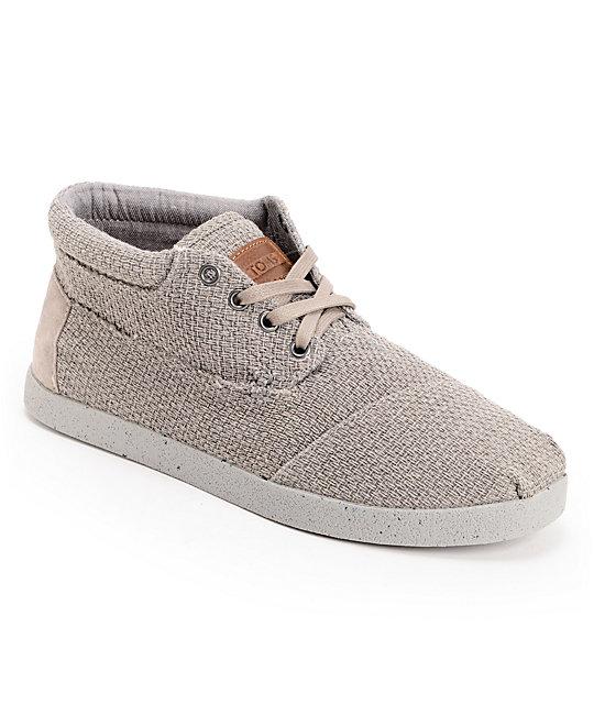 Toms Shoes Grey Basket Weave Botas Mens Shoes