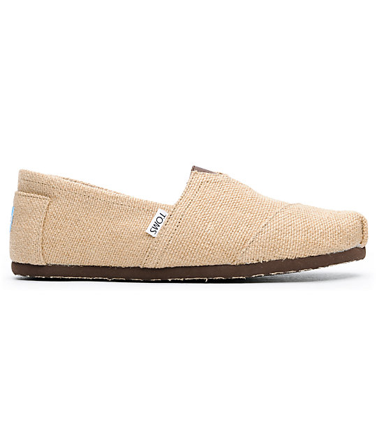 Toms Shoes Mens Burlap Tan & Brown Shoes