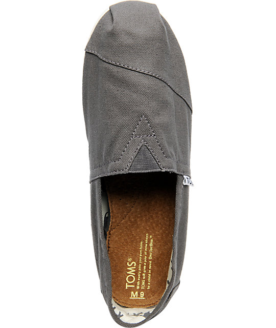 Toms Shoes Mens Classic Grey Shoes