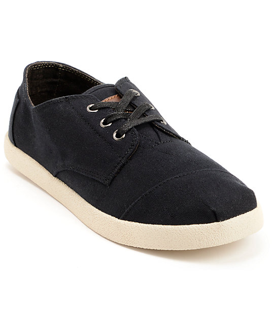 toms shoes paseos black canvas shoes at zumiez pdp