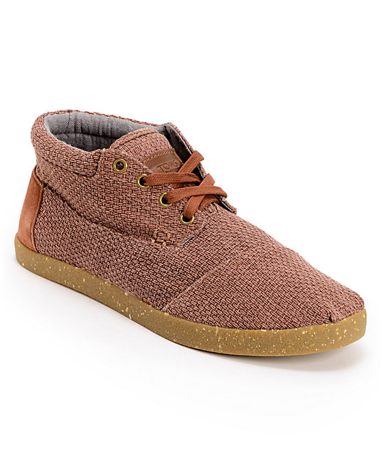 Toms Shoes Rust Basket Weave Botas Mens Shoes
