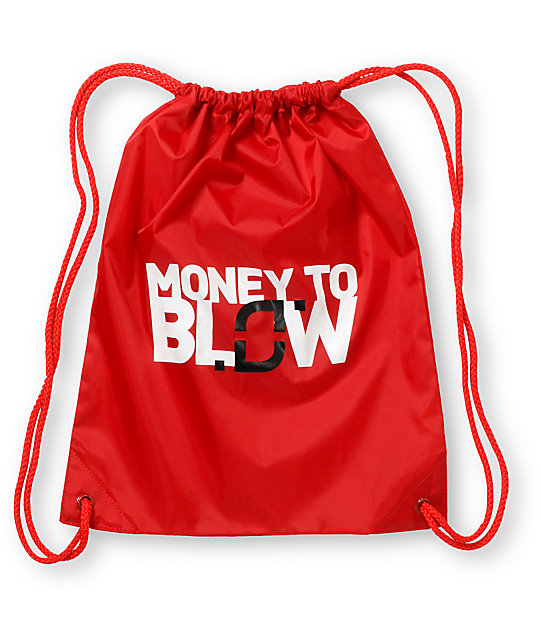 Too Many Loose Strings Money to Blow Red Drawstring Bag