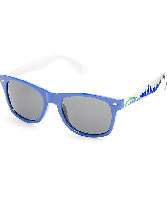 Townie Seattle Throwback 12s White Sunglasses