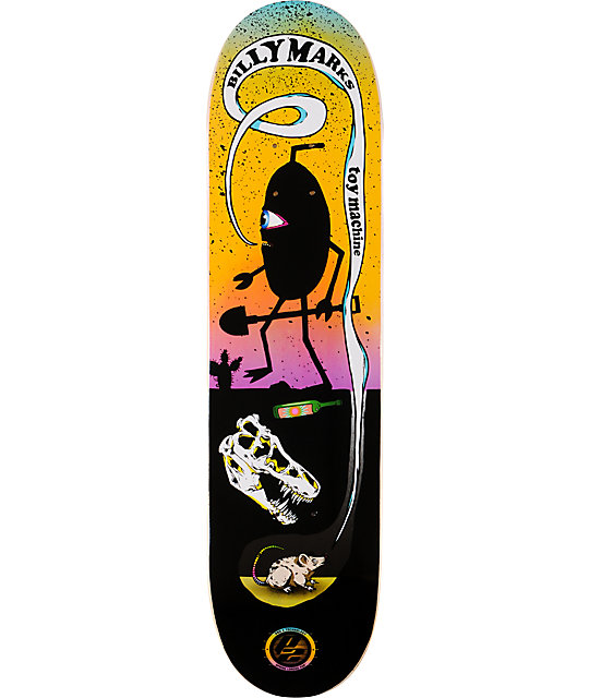 "Toy Machine Billy Marks P2 7.8""  Skateboard Deck"