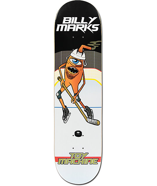 "Toy Machine Marks Hockey 8.0"" Skateboard Deck"