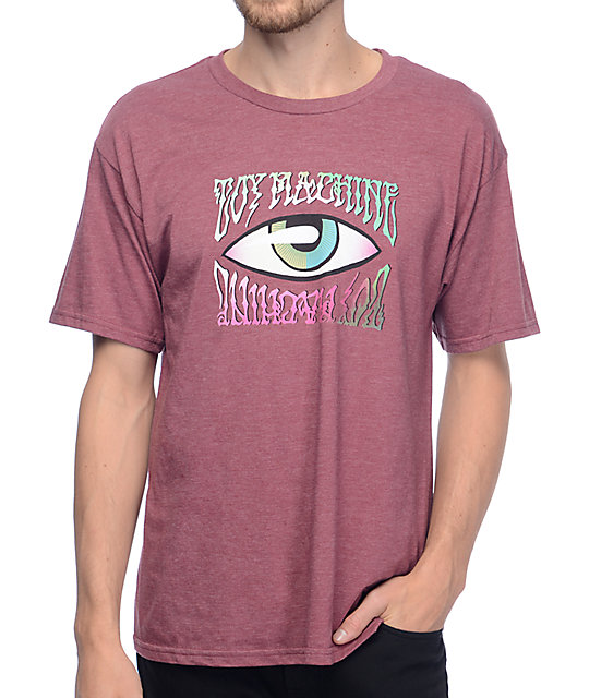 Toy Machine Psych Eye Burgundy T-Shirt