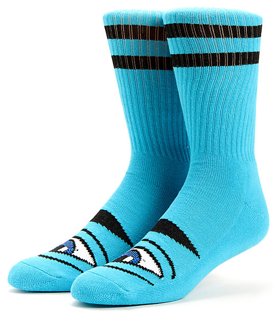 Toy Machine Sect Eye Blue Crew Socks