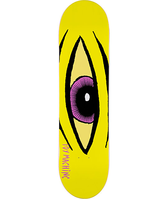 "Toy Machine Sect Eye Yellow 8.0""  Skateboard Deck"
