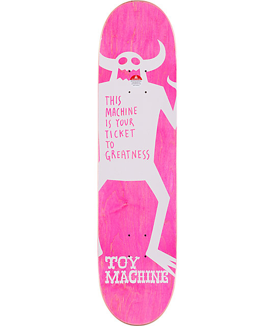 "Toy Machine Team Of The Year 8.0""  Skateboard Deck"