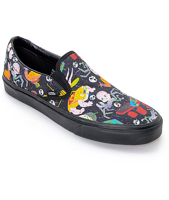 Toy Story x Vans Classic Slip On Mutant Print Shoes (Mens)