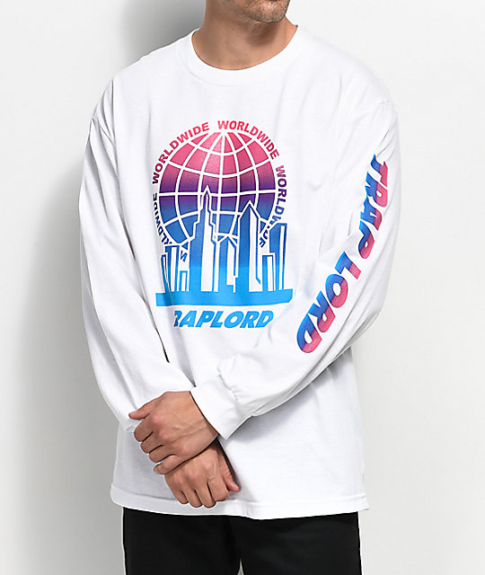 Traplord City Logo Long Sleeve White T-Shirt | Zumiez