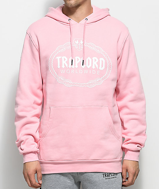 Traplord Logo Pink Pullover Hoodie | Zumiez