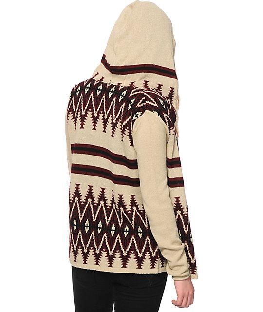 Trillium Acadia Tribal Hooded Cardigan | Zumiez
