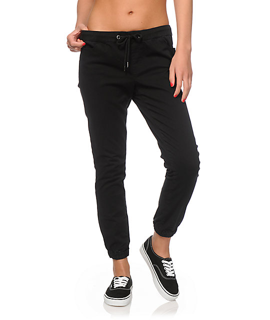 Jogger Pants. Get comfy in Tobi's fine line of women's jogger pants! Materials range from crepe and satin to jersey cotton. Among our many jogger styles are .