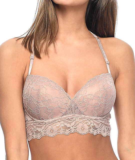Trillium Kapua Rose Lace Push Up Racerback Bralette