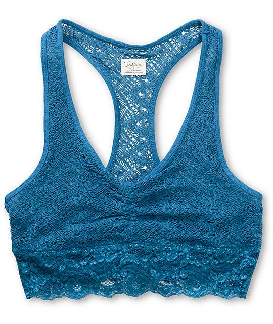 Trillium Lyons Blue Lace Racerback Bralette